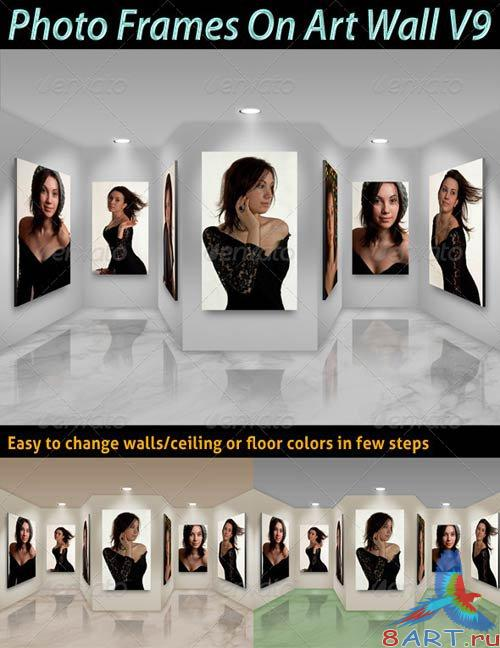 GraphicRiver Photo Frames On Art Wall V9