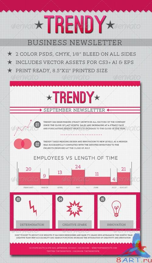 GraphicRiver Trendy Business Newsletter
