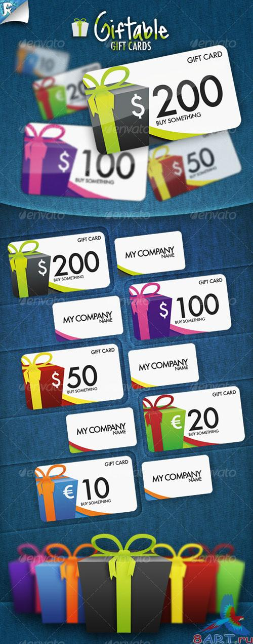 GraphicRiver Giftable Gift Cards - It's a present - REUPLOAD
