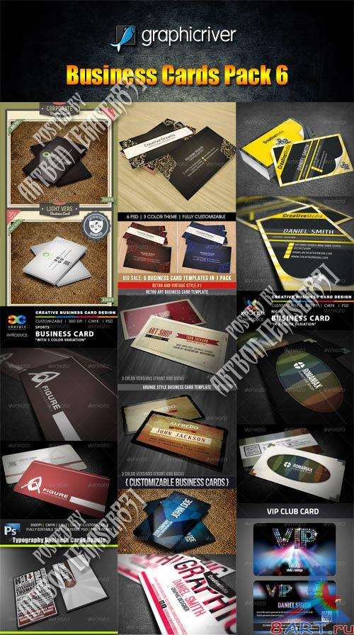 GraphicRiver Business Cards Pack 6