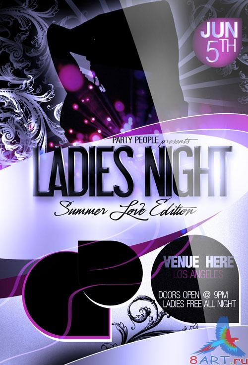 PSD Template - Ladies Night Party Flyer/Poster