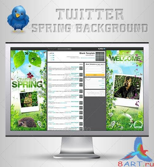 GraphicRiver Twitter Background | Spring