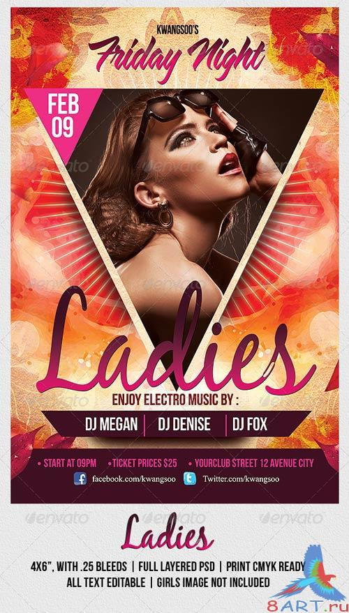 GraphicRiver Ladies Night Party Flyer Template 1063272