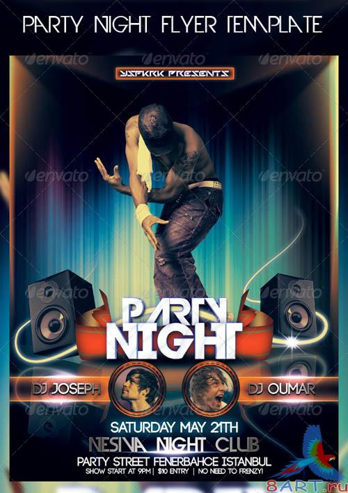 GraphicRiver Party Night Flyer Template
