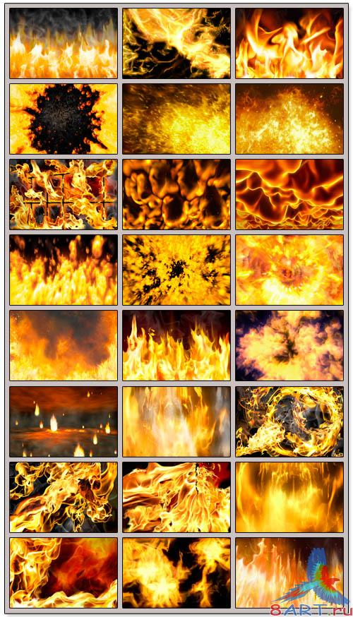 Fire backgrounds - PSD