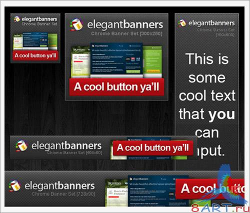 Chrome Banner Ad Template Set