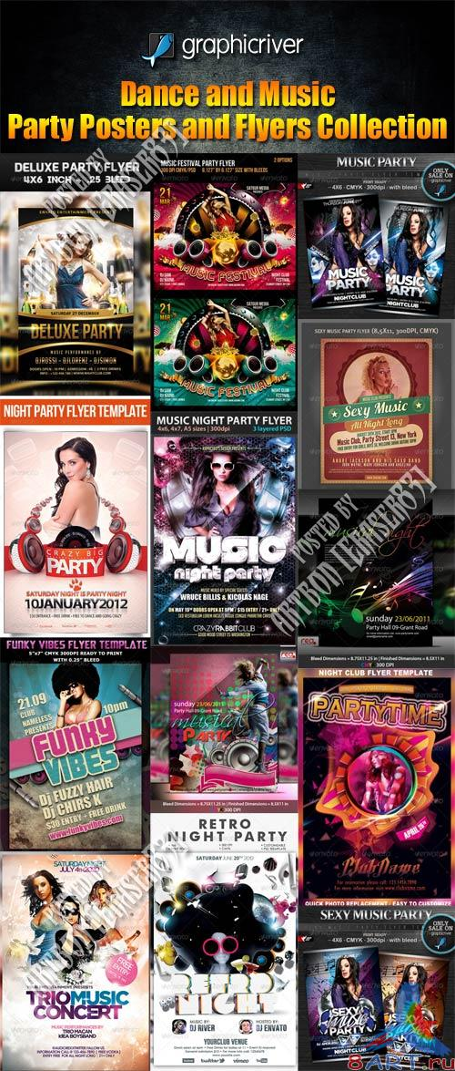 GraphicRiver Dance and Music Party Posters and Flyers Collection