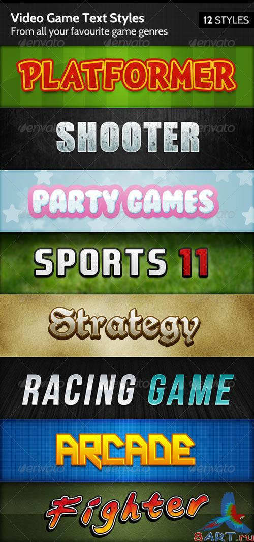 GraphicRiver Video Game Text Styles