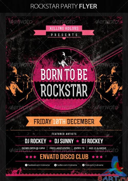 GraphicRiver Rockstar Retro Party Flyer