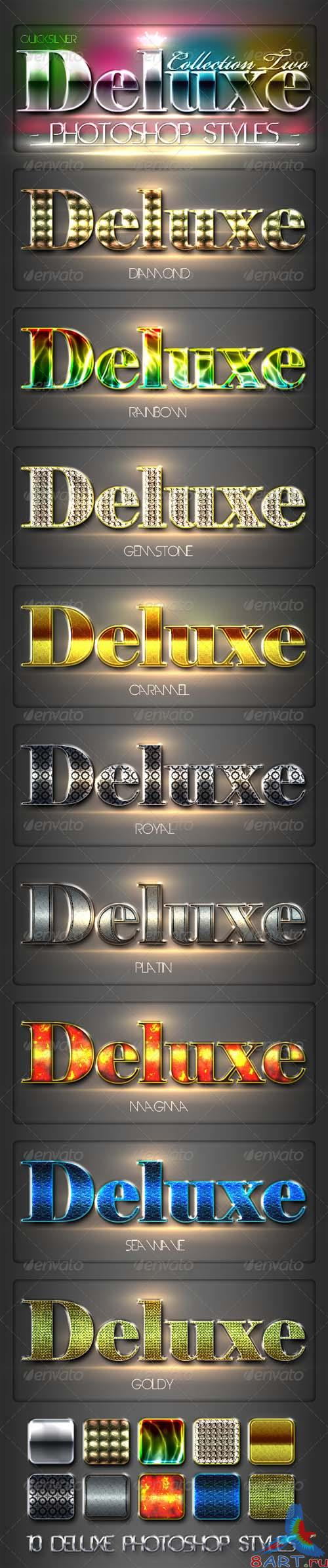 GraphicRiver 10 DeLuxe Photoshop Layer Styles Collection 2 - REUPLOAD