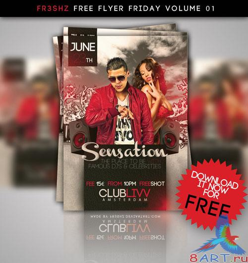 PSD Template - Sensation Flyer/Poster Friday