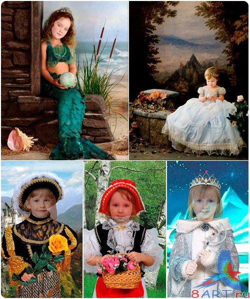 Children Costumes Templates PSD