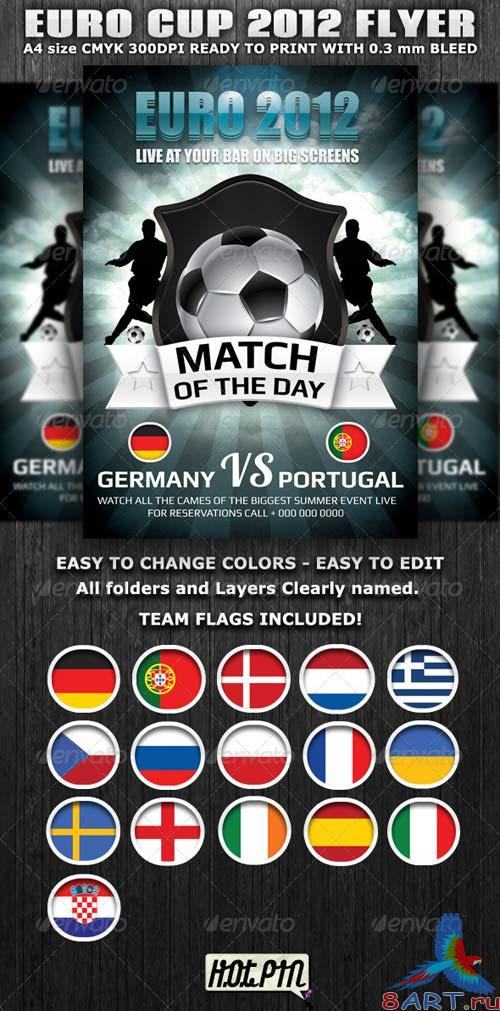 GraphicRiver Euro Cup 2012 Football Flyer template