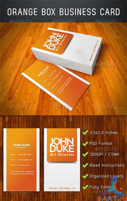 GraphicRiver - Orange Box Business Card 2738491