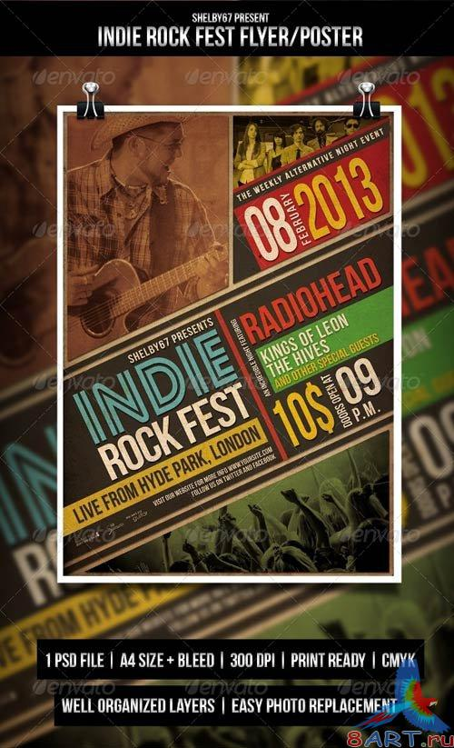 GraphicRiver Indie Rock Fest Flyer / Poster