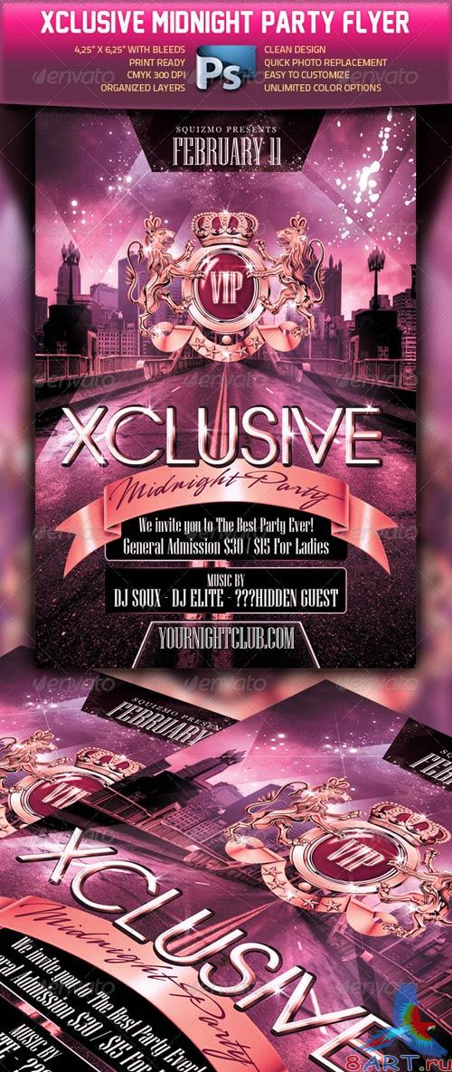 GraphicRiver Xclusive Midnight Party Flyer