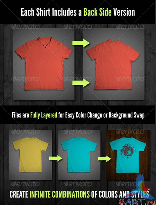 GraphicRiver T-Shirt Mock-Ups - Variety Pack