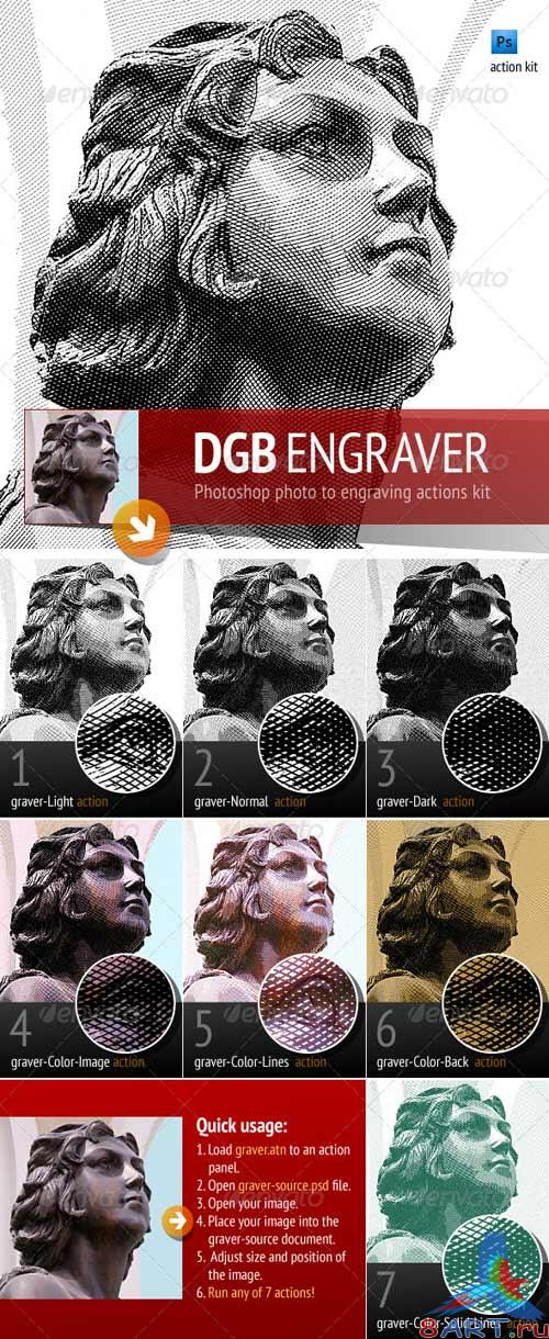 GraphicRiver Engrave Photoshop Actions Kit