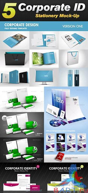 Corporate Design & Stationary Mock-Up Bundle