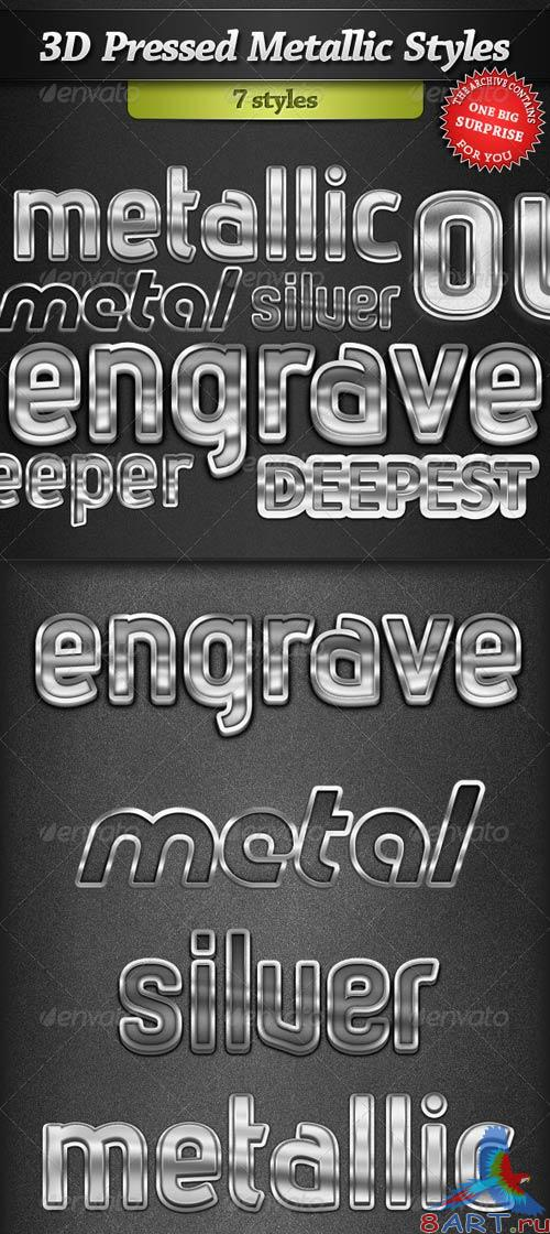 GraphicRiver 3D Pressed Metallic Text Styles
