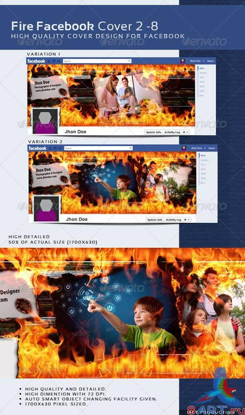 GraphicRiver Fire Facebook Timeline Cover 2 - 8