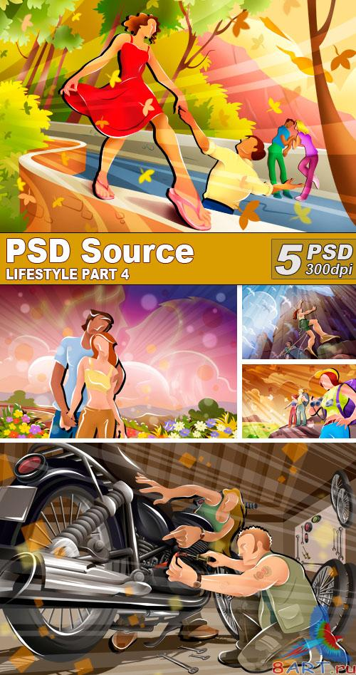 PSD Illustrations - Lifestyle 4