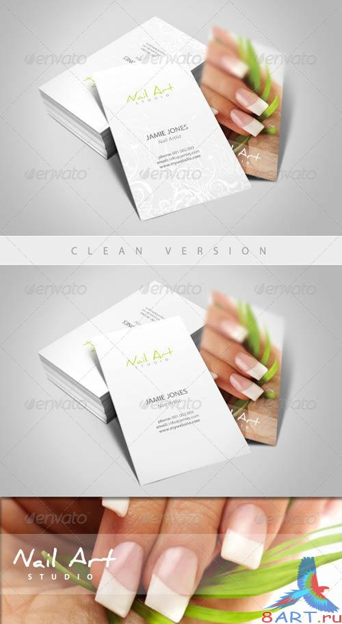GraphicRiver Nail Art/Manicure Business Card