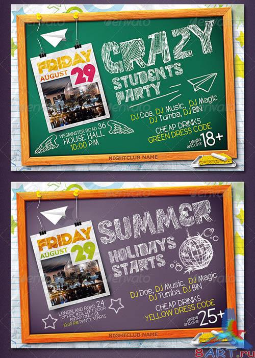 GraphicRiver Blackboard Flyer
