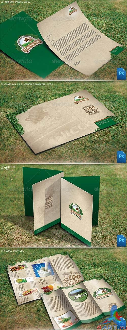 GraphicRiver Organic Natural Corporate Identity v9