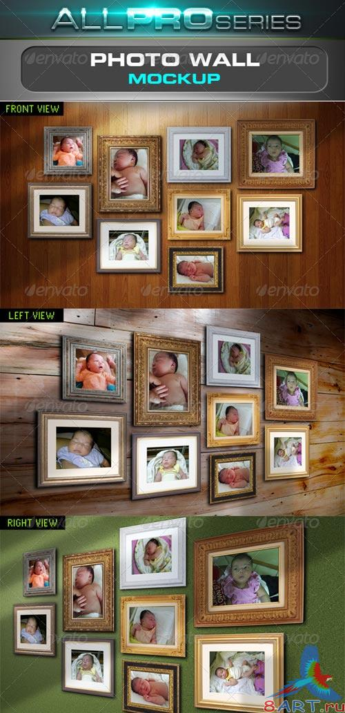GraphicRiver Photo Wall Mockup