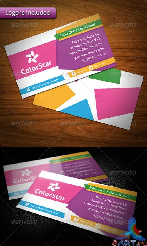 GraphicRiver Color Star Creative Business Card