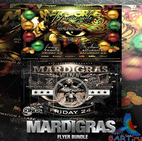 GraphicRiver - Mardigras Flyer Bundle 2557227