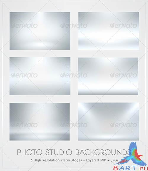 GraphicRiver Infinite White Floor Spotlight Backgrounds