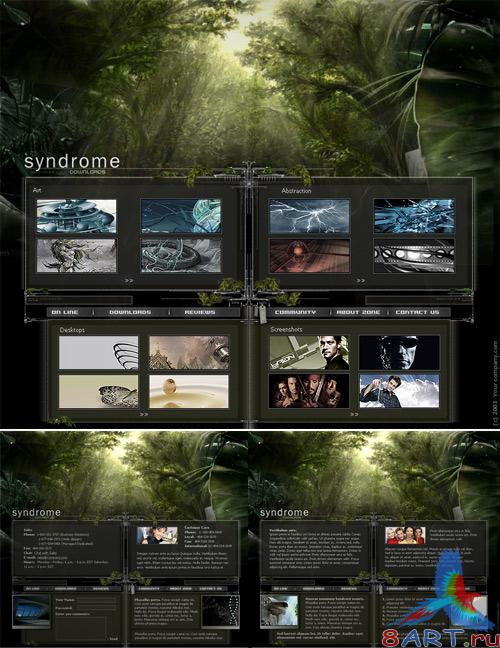 Green Site PSD Template