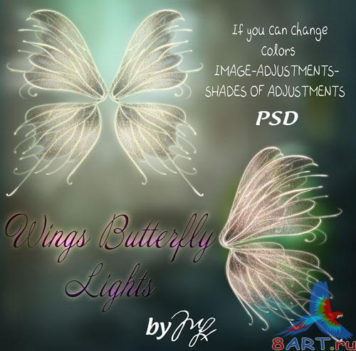 Wings Butterfly Glitter PSD Template
