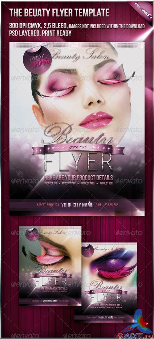 GraphicRiver Fashion Beauty Flyer Template