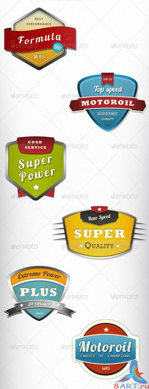Modern Trendy Badges