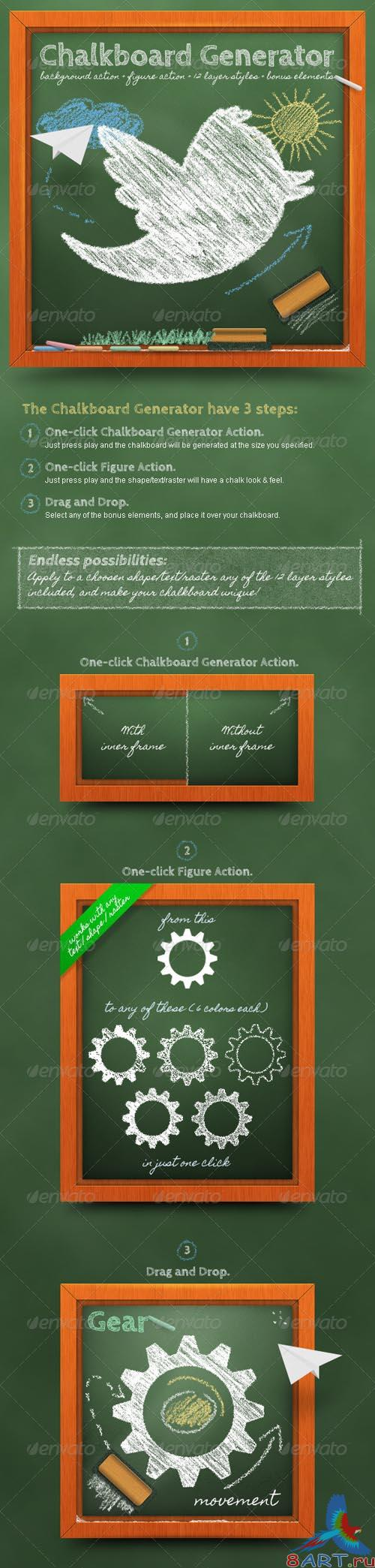 GraphicRiver Chalkboard Generator: Action + Layer Styles - REUPLOAD