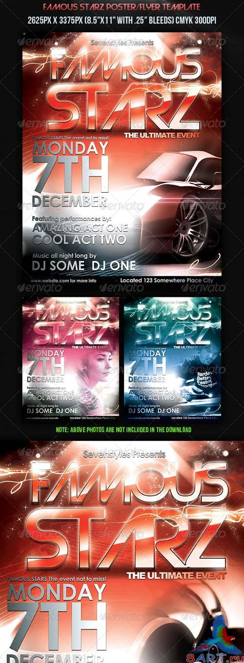 Famous Starz Flyer Poster Template