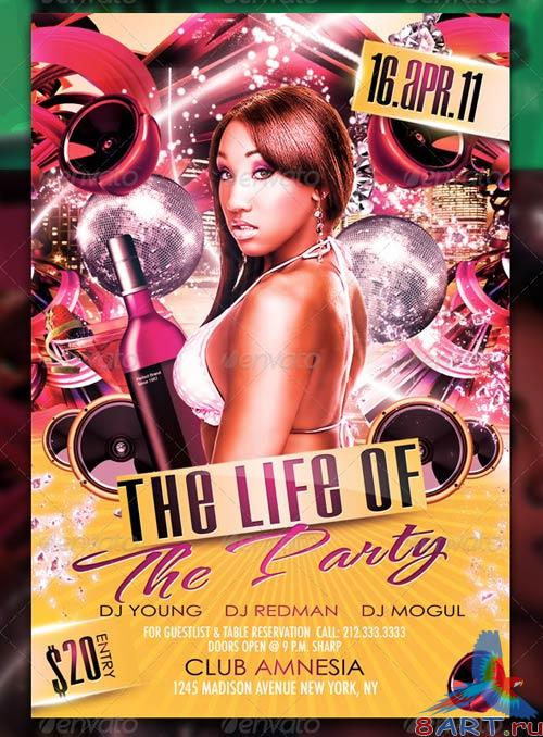 GraphicRiver The Life Of The Party Flyer Template