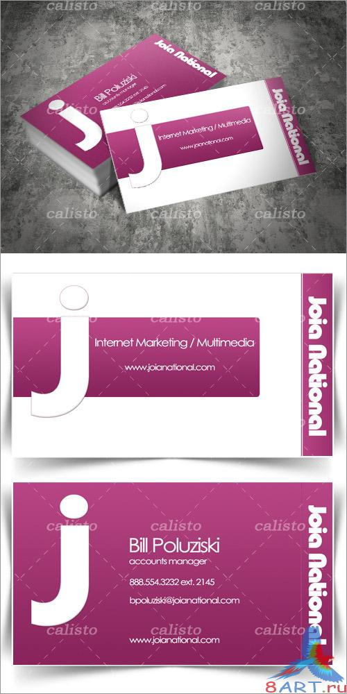 Joia Business Card: Free PSD and Illustrator Print Templates