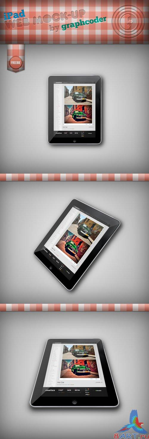 iPad Mock-up PSD Template