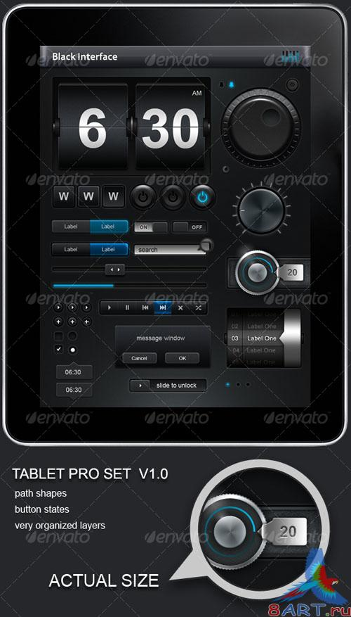 GraphicRiver Tablet and Phone User Interface PROFESSIONAL SET