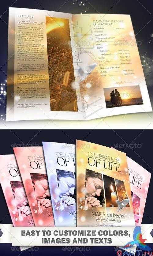 GraphicRiver Celebration of life - Funeral Program Brochure Template