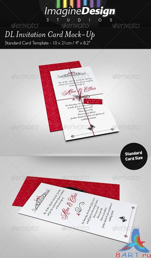 GraphicRiver DL Invitation Card Mock-Up