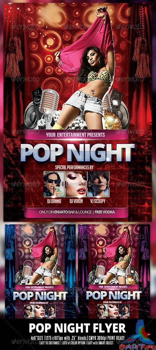 GraphicRiver Pop Night Flyer
