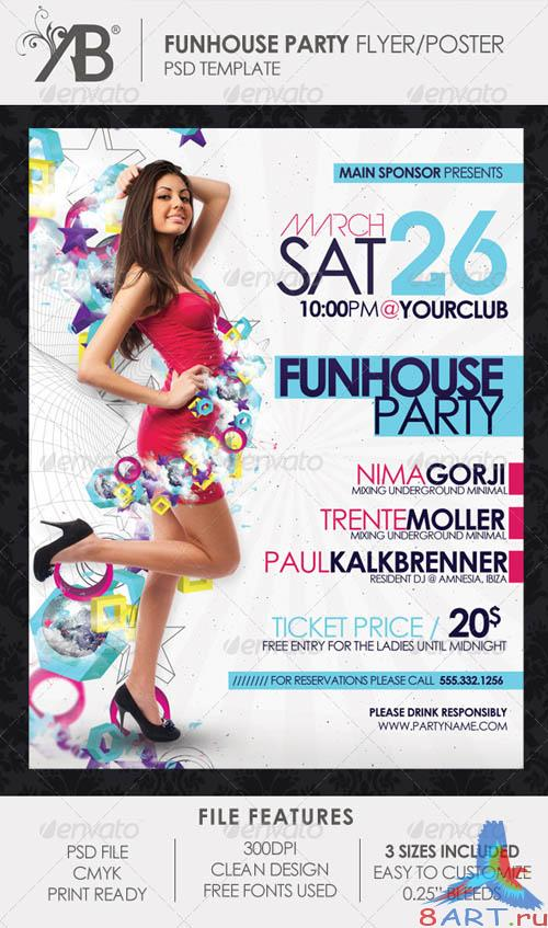 GraphicRiver Funhouse Party Flyer Poster