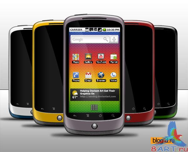 Nexus One by Google PSD-template