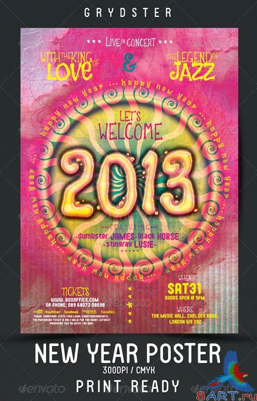 GraphicRiver New Year Flyer - Poster 3543566