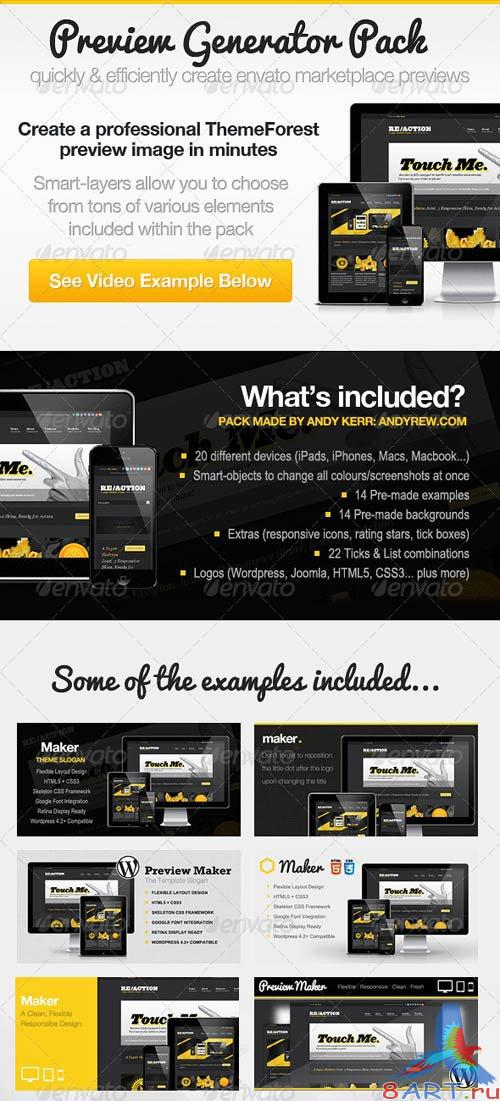 GraphicRiver ThemeForest Preview Generator Pack